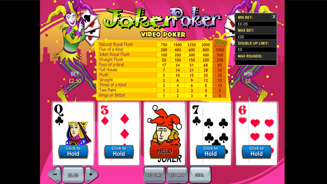 Характеристики слота Joker Poker Video Poker 6