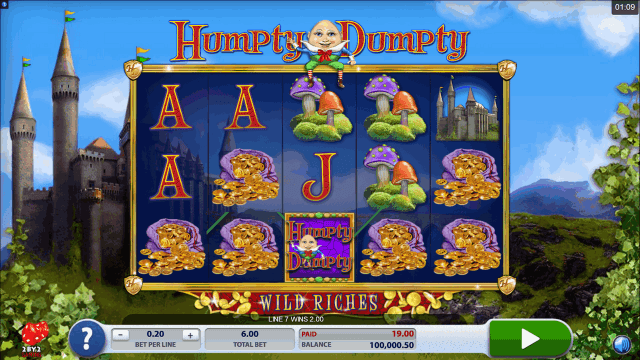 Бонусная игра Humpty Dumpty Wild Riches 2